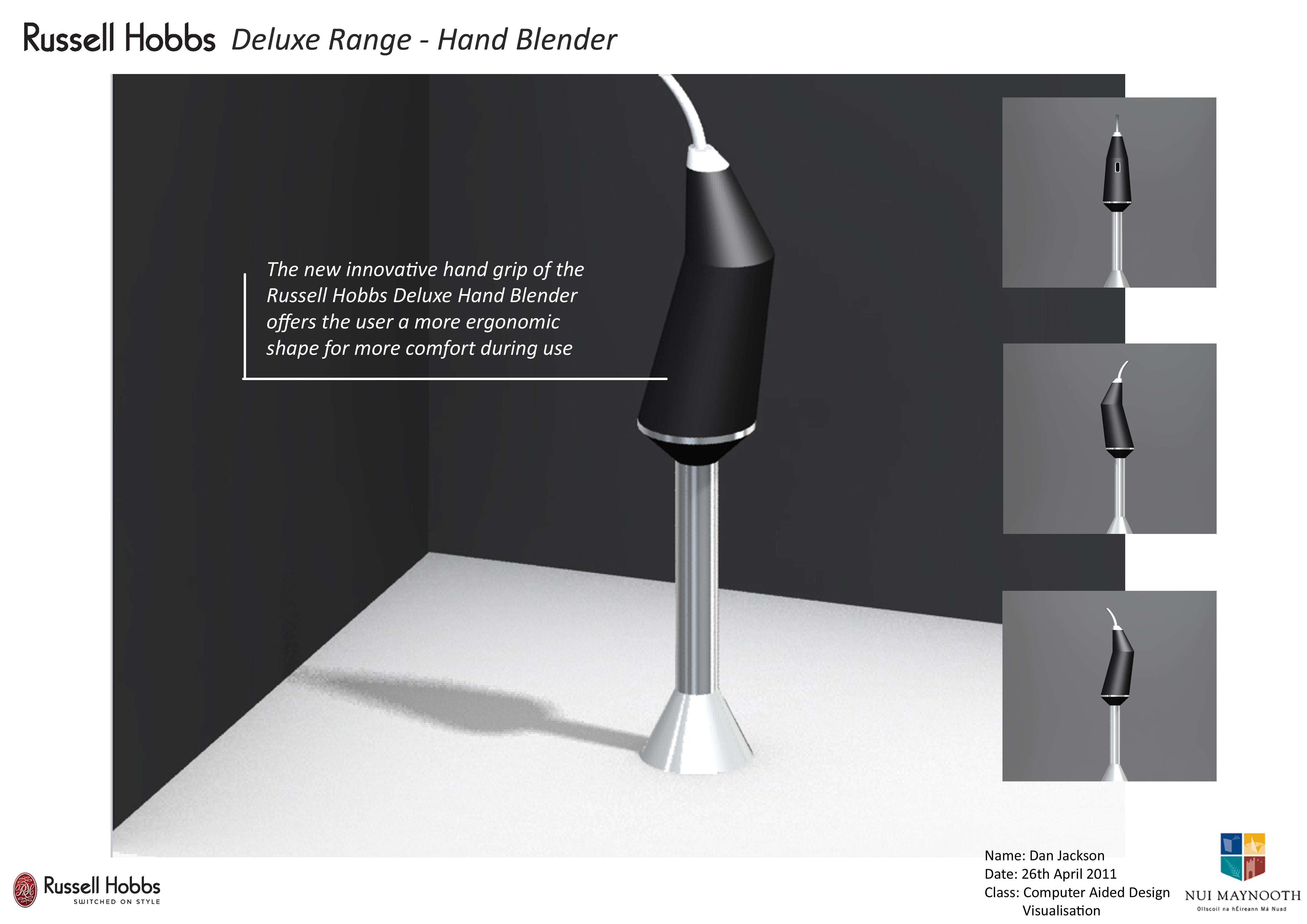 Hand Blender Design ~ Hand blender concept by dan jackson at coroflot