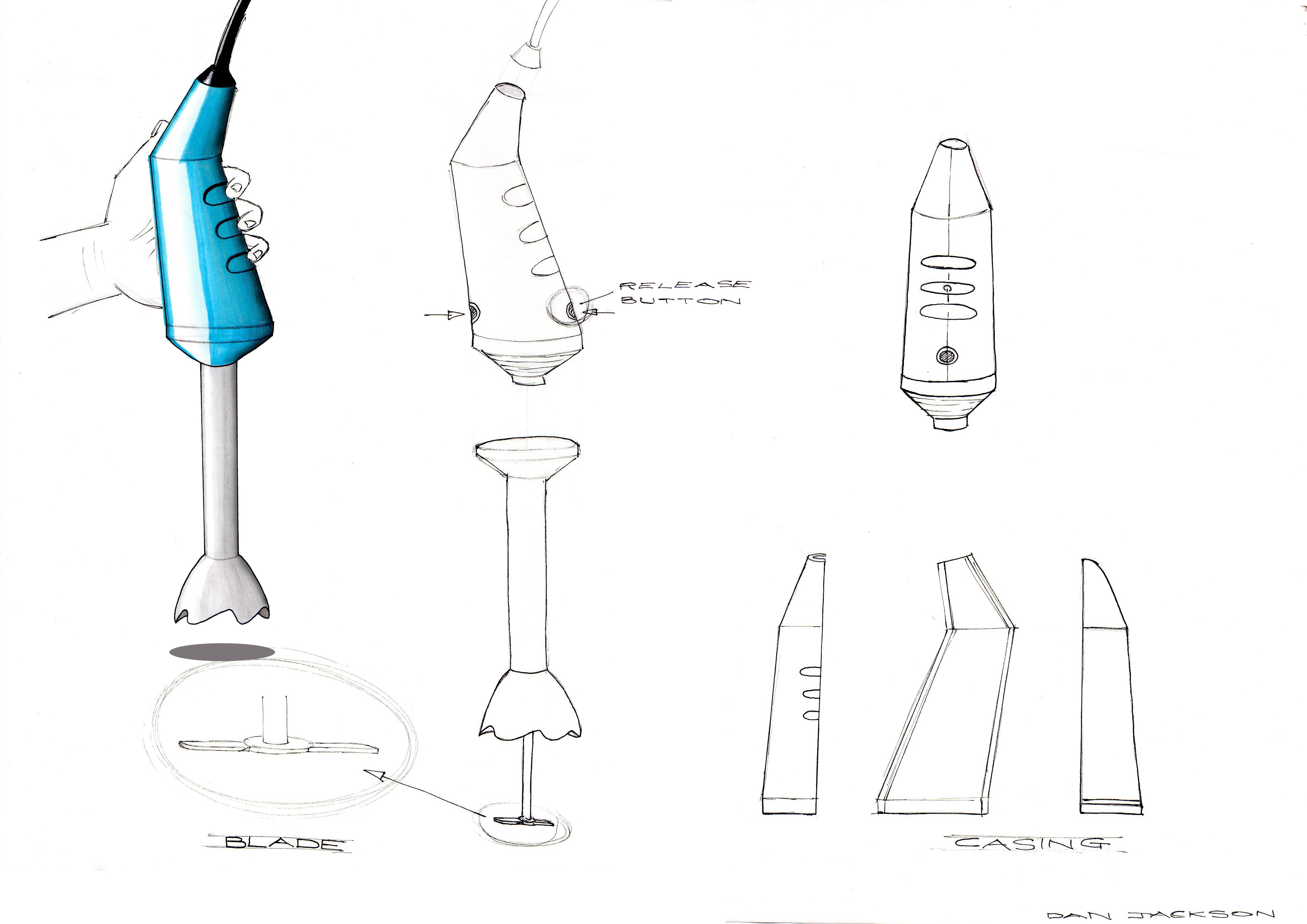 hand blender concept by dan jackson at. Black Bedroom Furniture Sets. Home Design Ideas