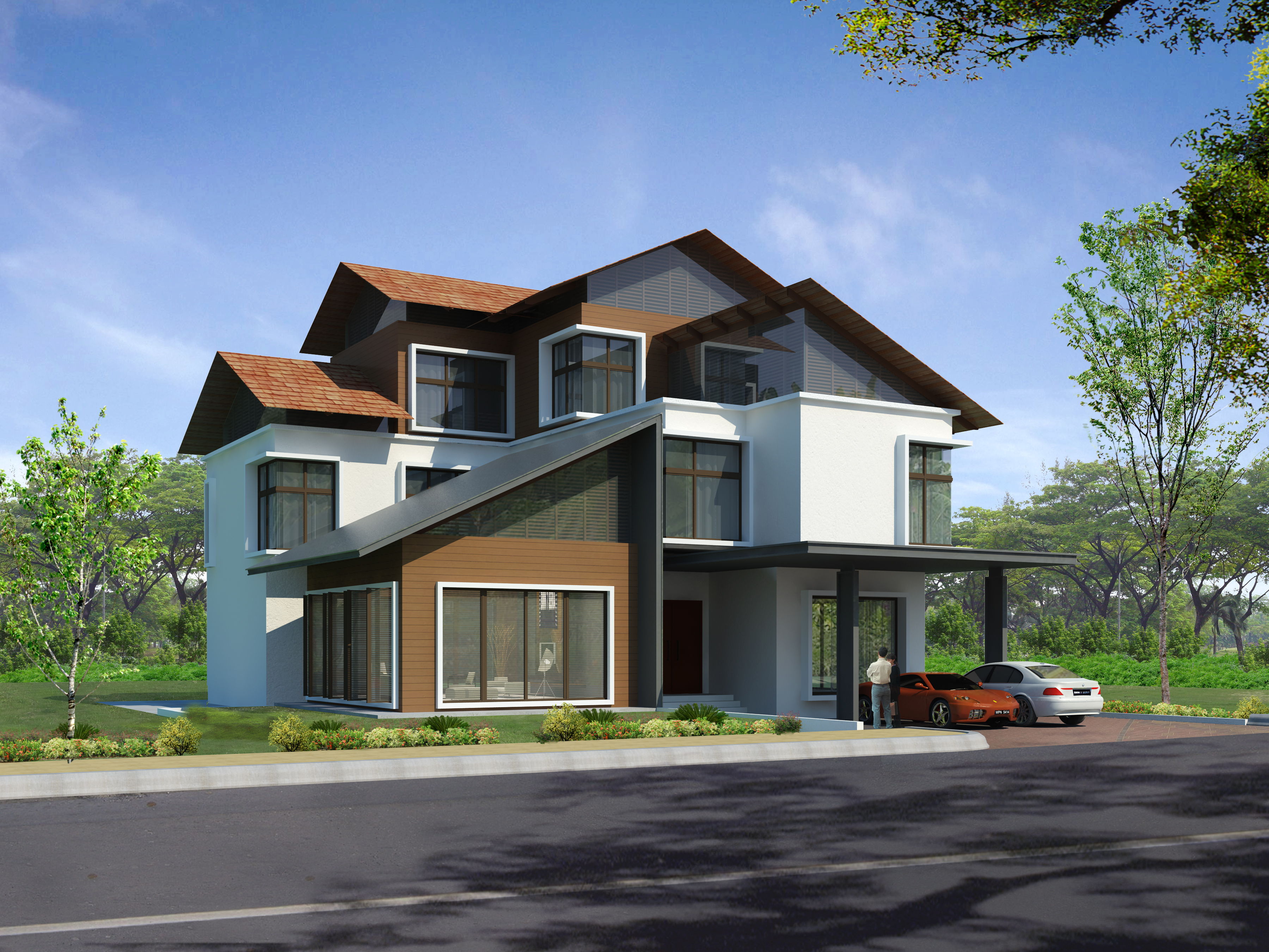 3d exterior by dahareare dahare at for 3d images of bungalows
