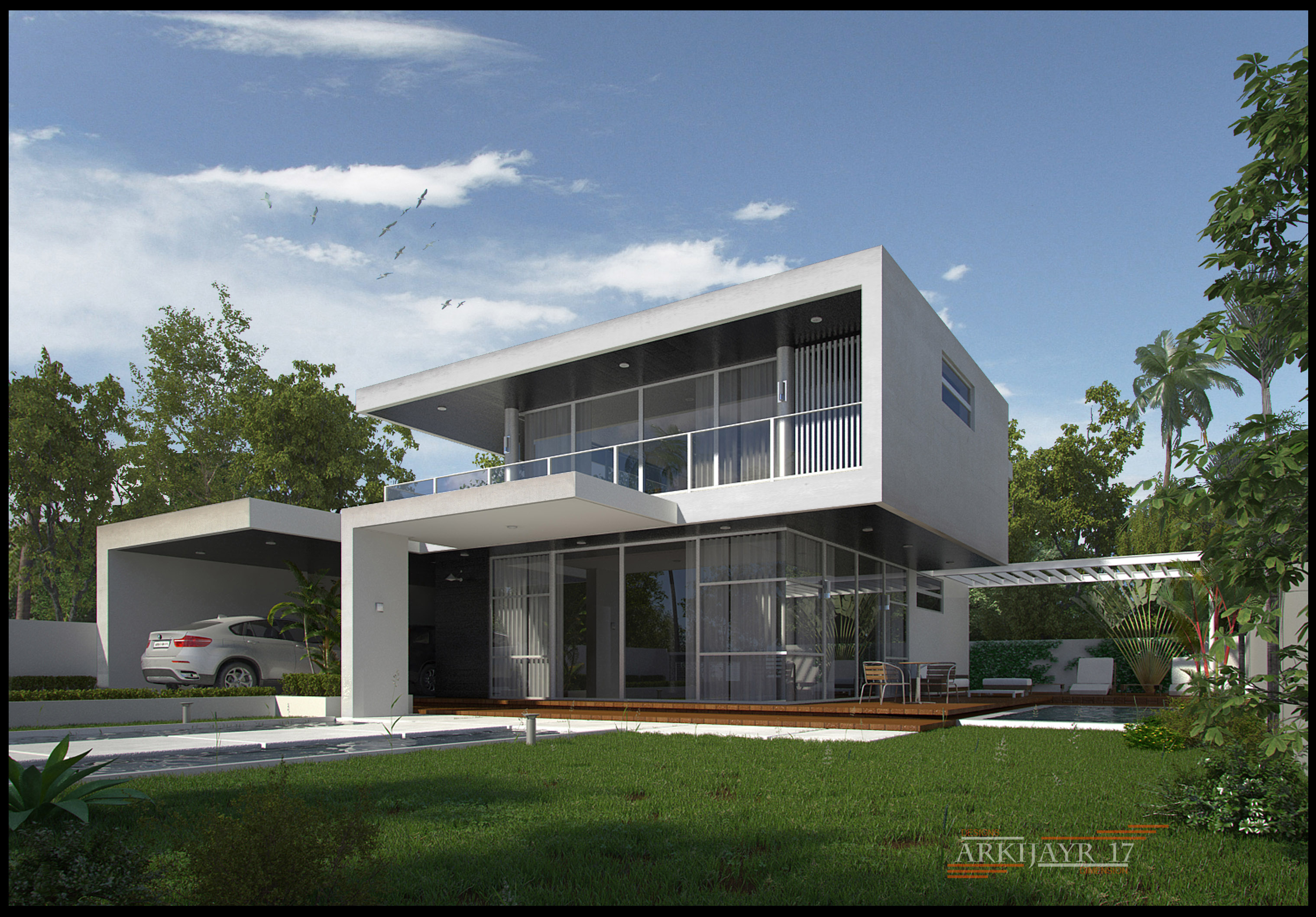 The simple modern house by mayolo briones at for Simple mansion
