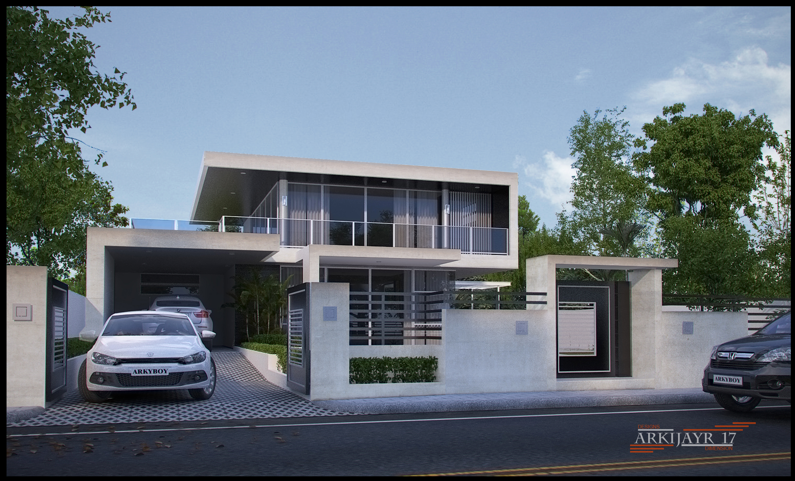 The simple modern house by mayolo briones at for Simple modern house