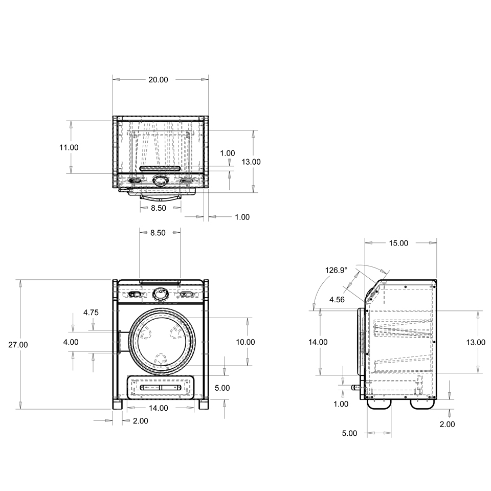 standard size washing machine and dryer