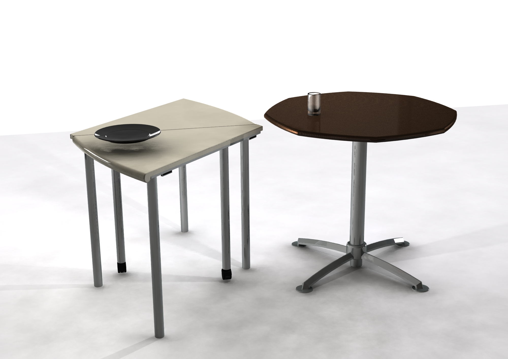 Flexible table set by kay fung at - Petite table pliable ...