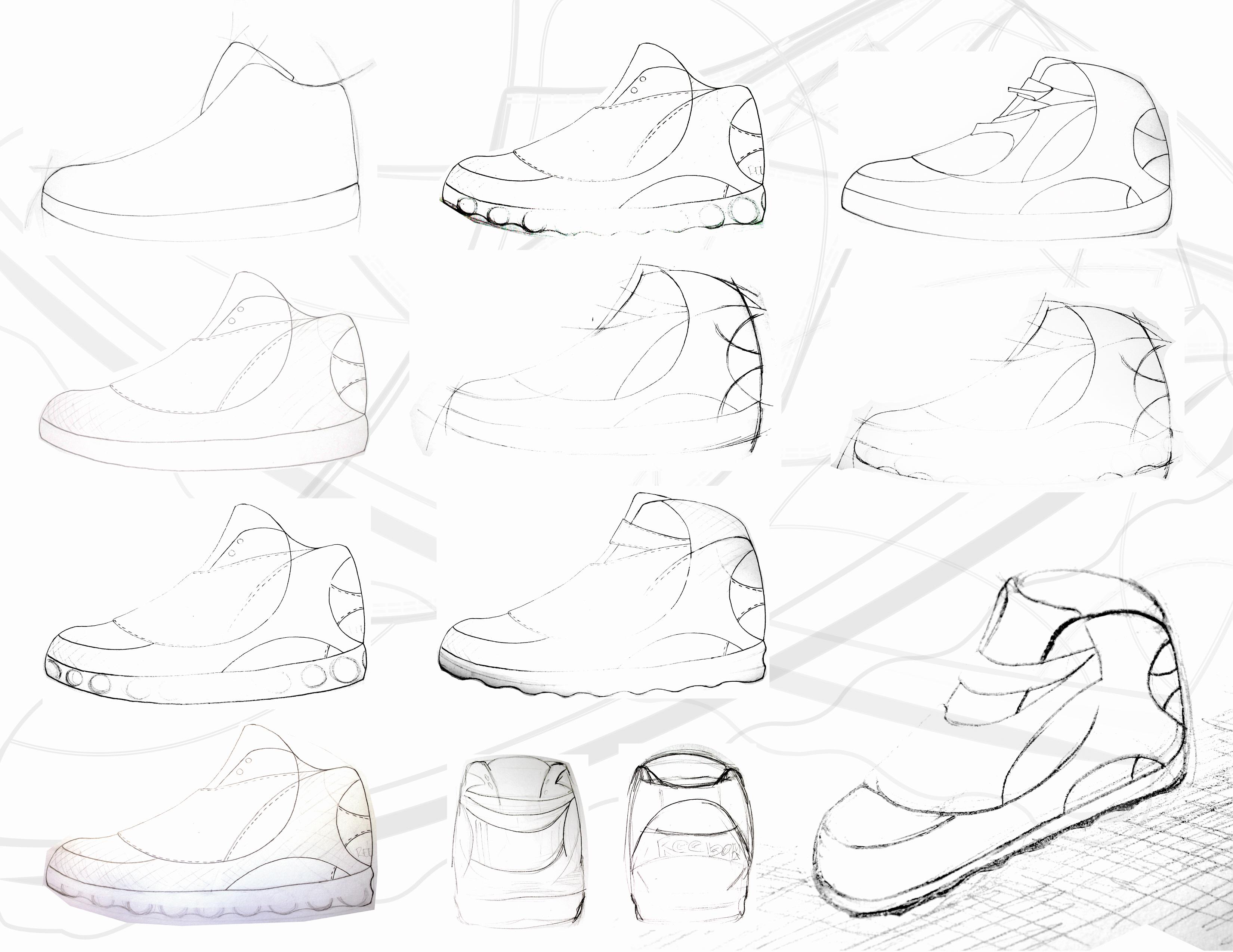 How To Draw Shoes Reebok Basketball Sho Illustrator Based Basketball Shoe  Concept