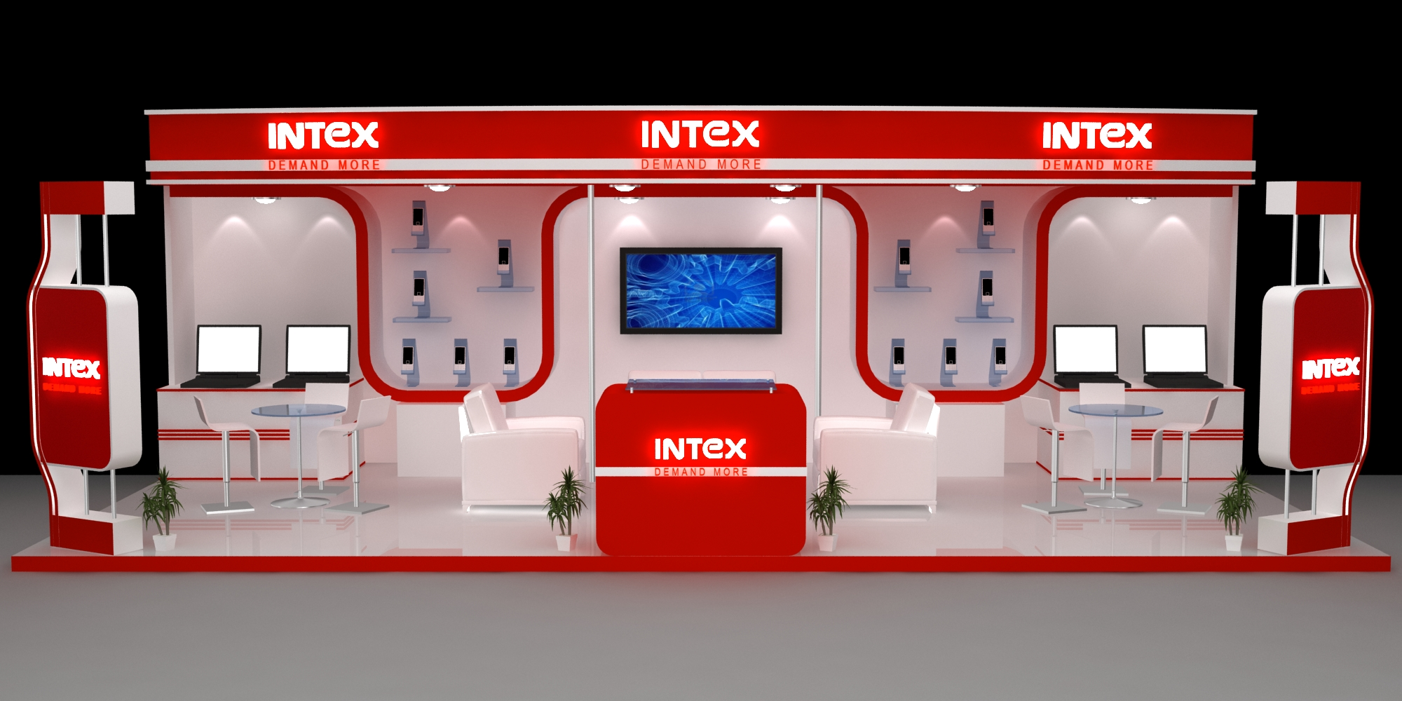 Stall Design For Exhibition : Intex booth design by manoj sharma at coroflot