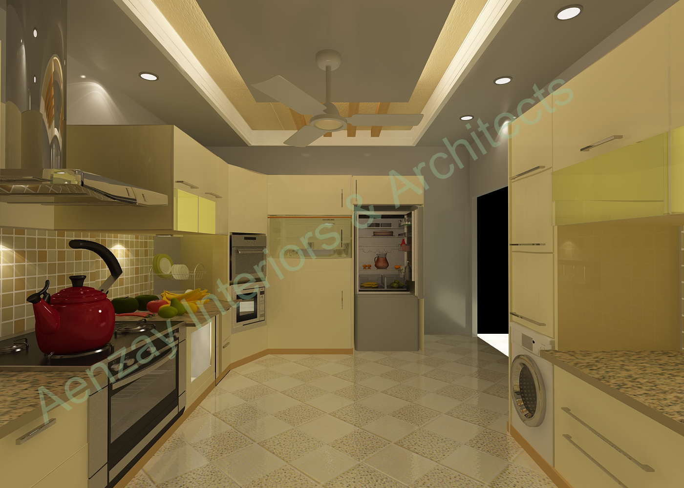 My work by imran qadri at for Interwood kitchen designs pakistani