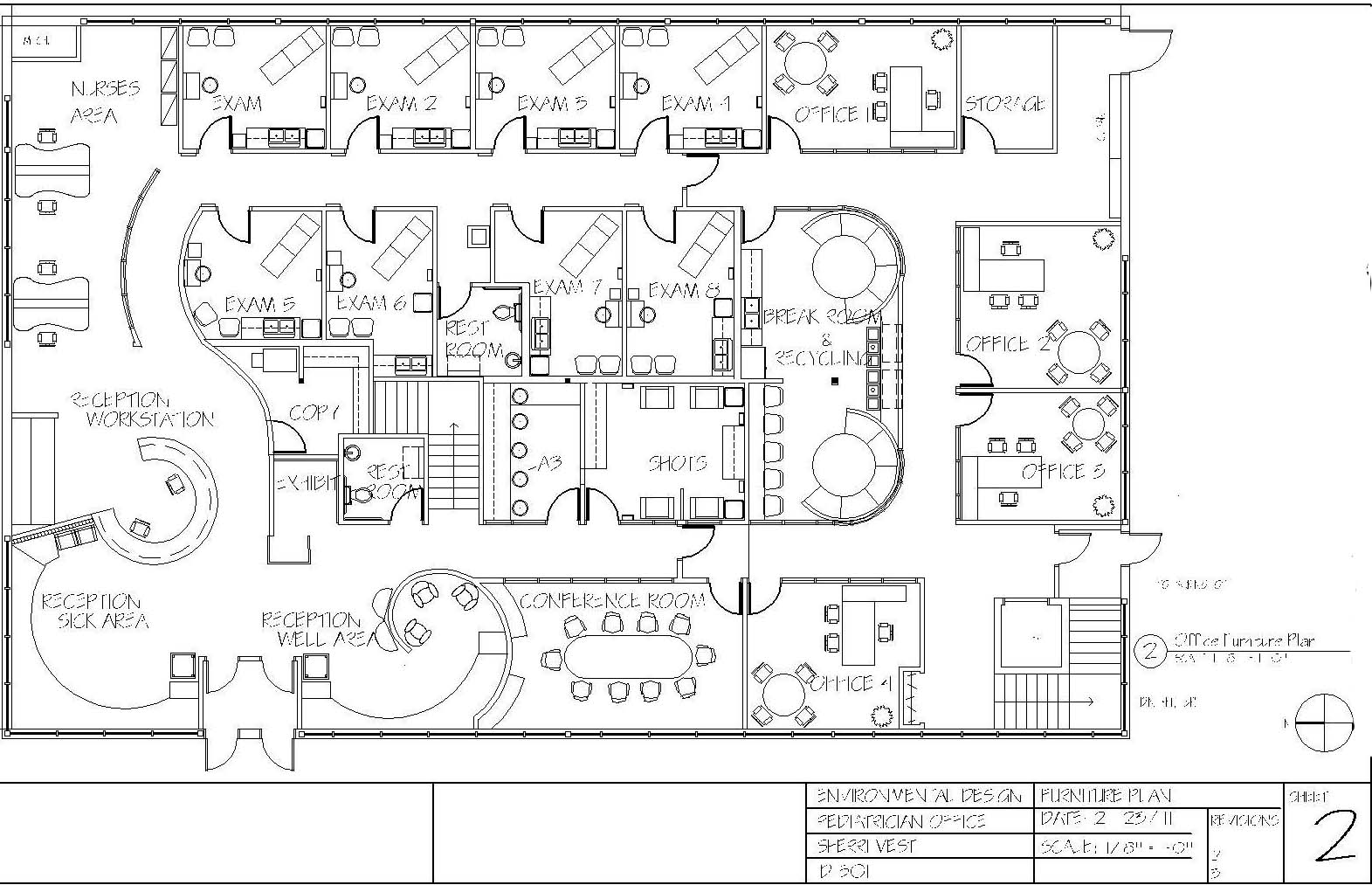 Pediatric office floor plan by sherri vest at for Draw office floor plan