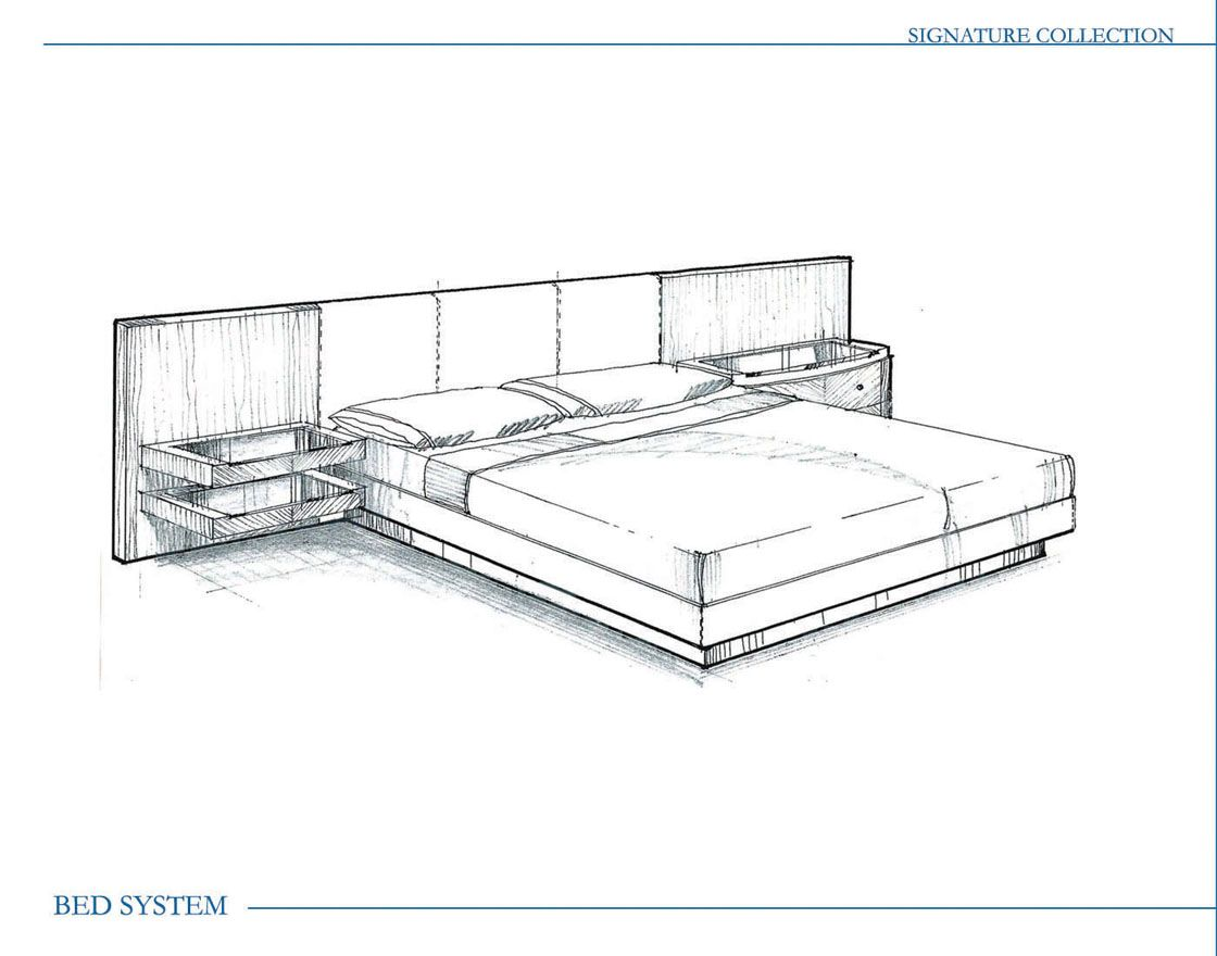 Furniture design by charisse butler at for Bed drawings and design