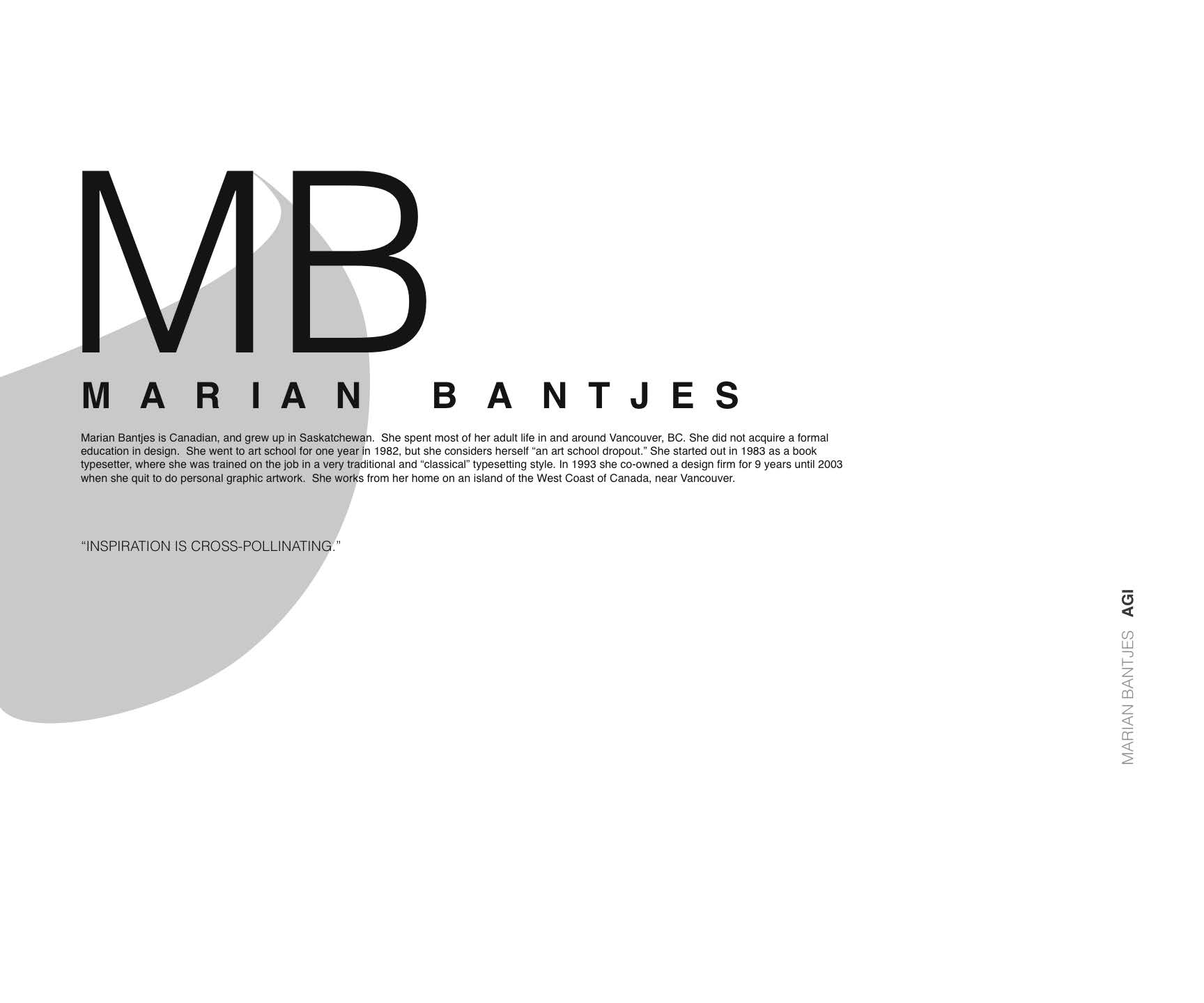 graphic design by samantha meredith at com graphic designer marian bantjes poster 1 objective explore a graphic designer and create two separte poster layouts about their bio using grid