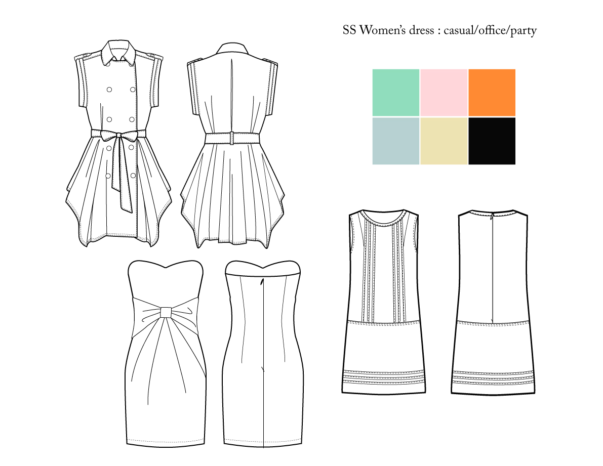Original  Gift Sketches Of Her Dress And The Bridesmaids Amp Flower Girl Dresses