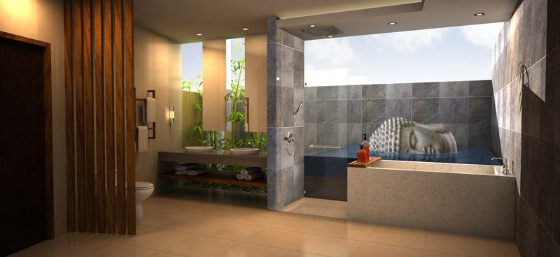 Bali Bath Tropical Bathroom Orange County By Susan Thiel