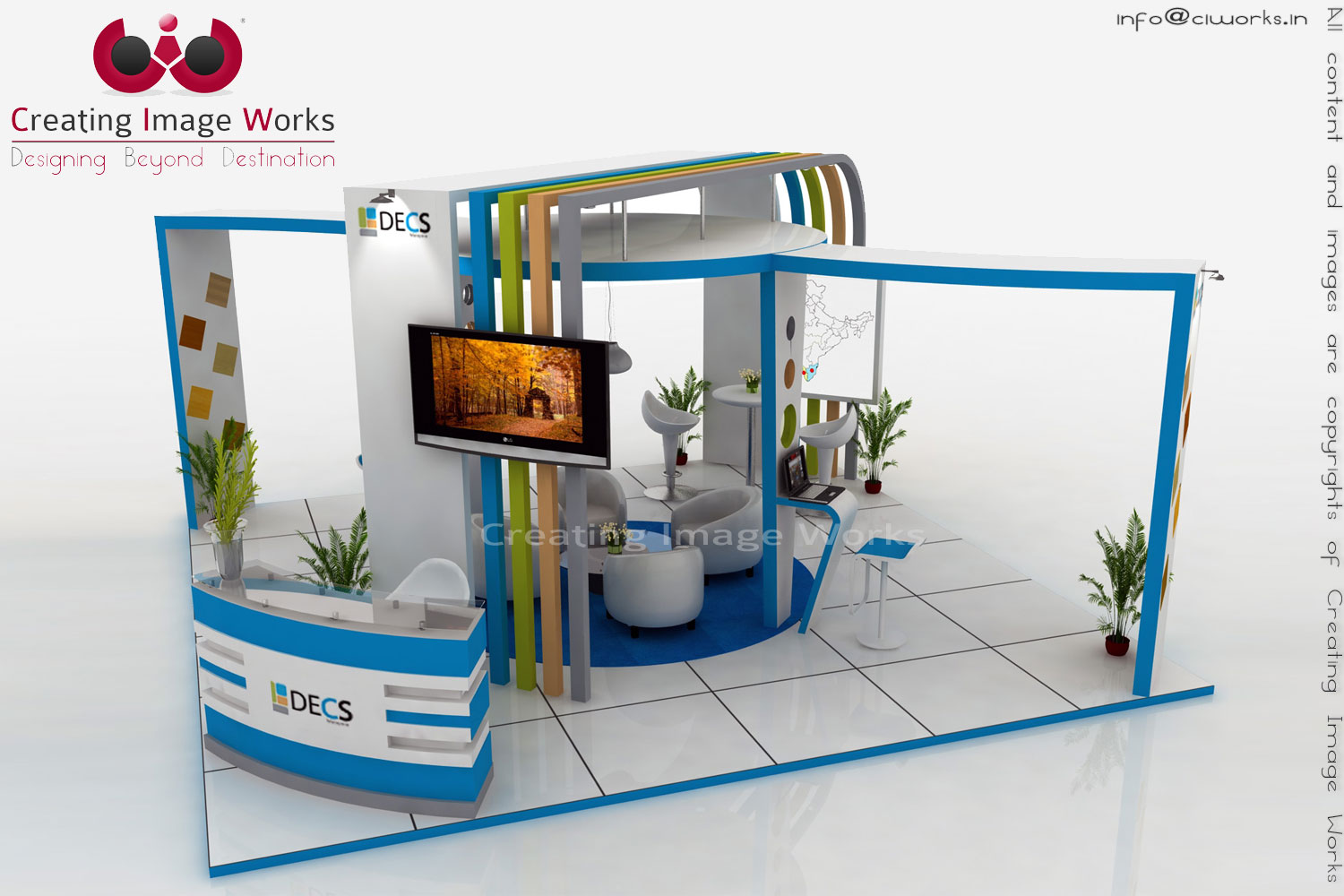 Exhibition Stall Designer Job : Exhibition stall designs by creating image works at