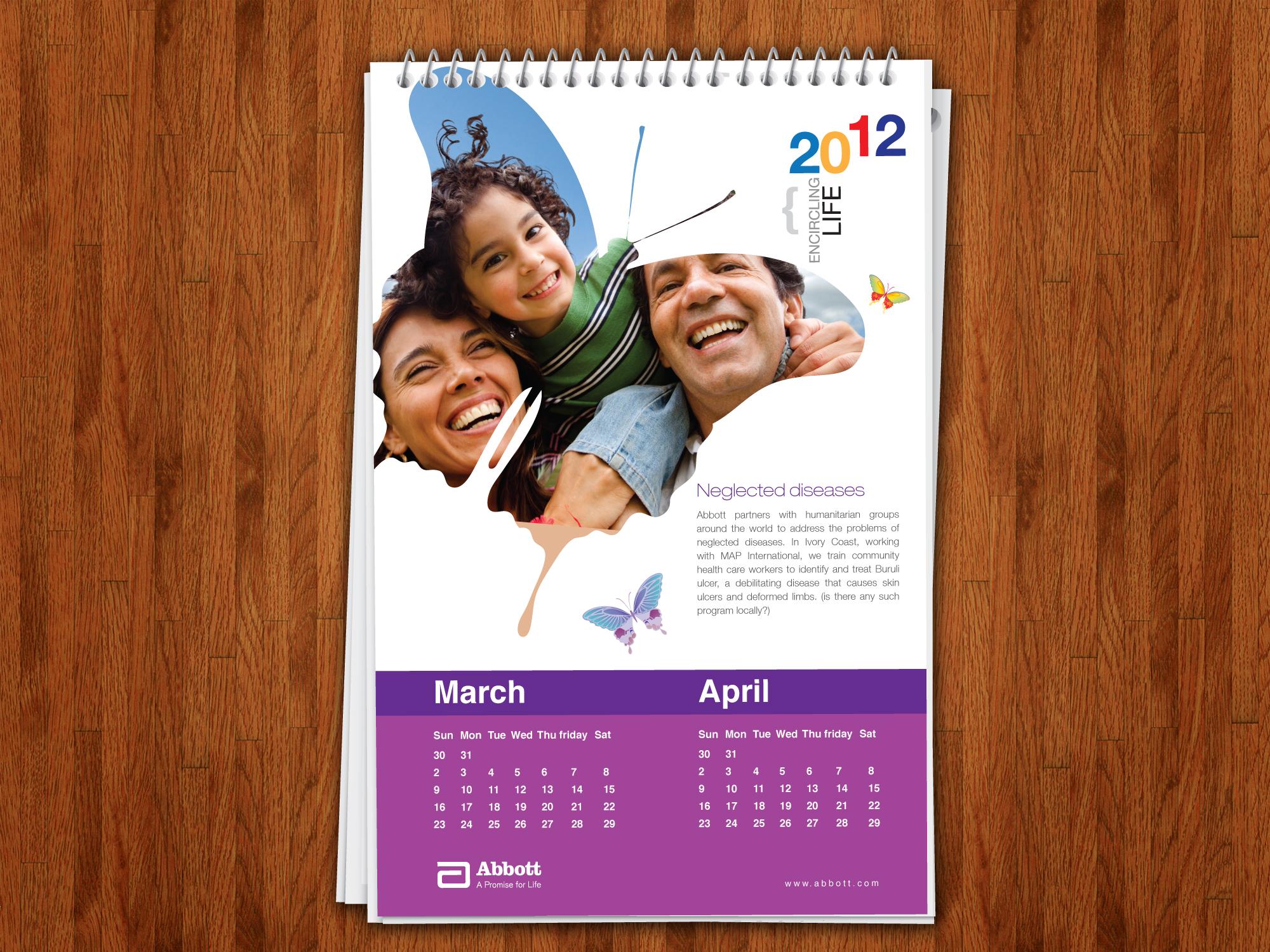 Calendar Design Concept : Calendar concepts by center spread at coroflot