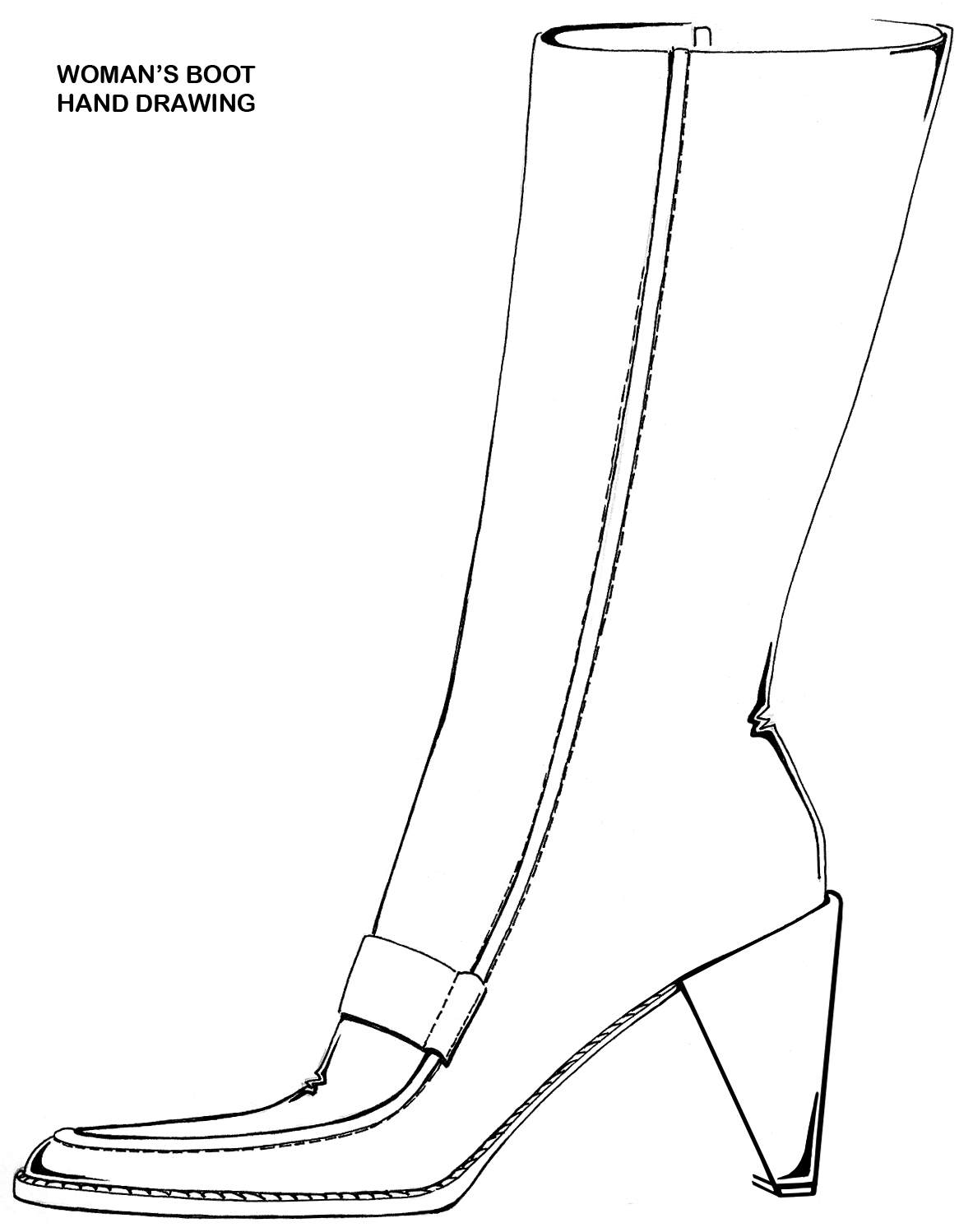 Coloring pictures of cowboy boots - Cowboy Boots Coloring Page Photo 20