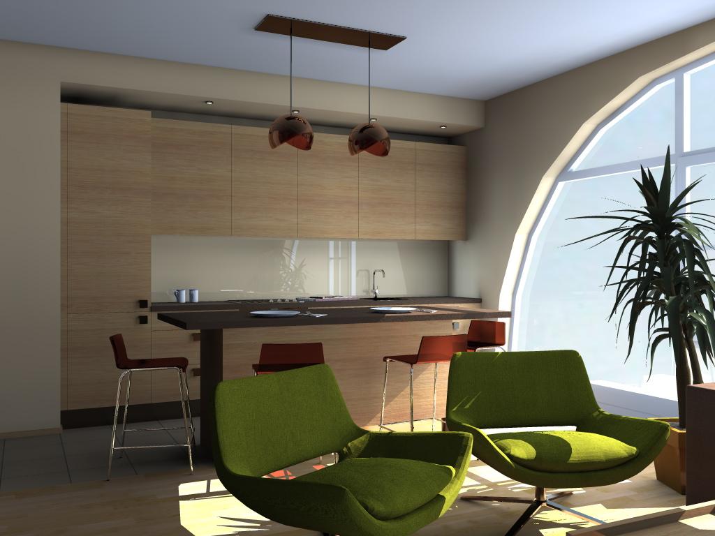 Studio type living room design living room for Studio type design