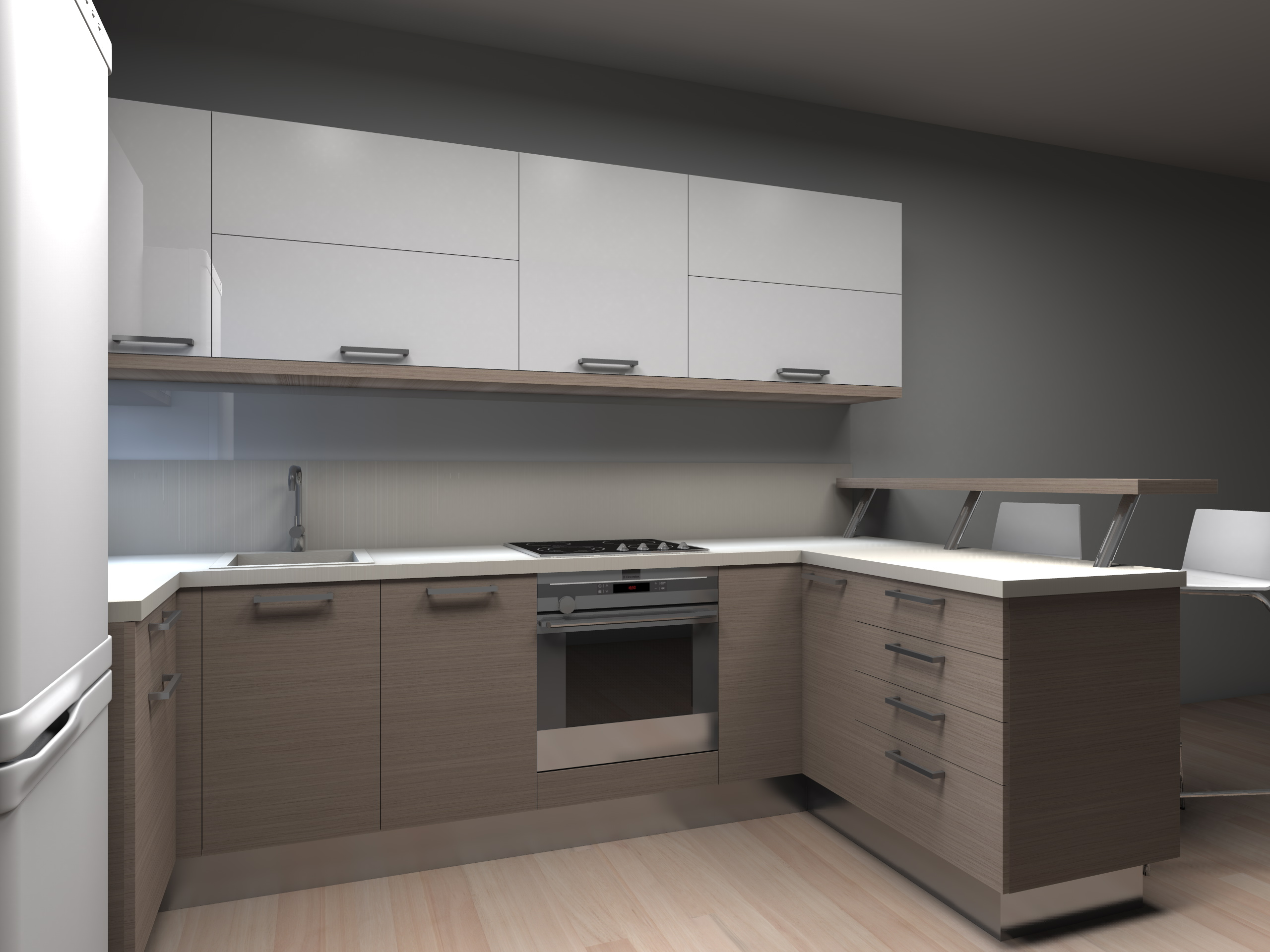 Kitchen furniture by evita gavrilova at for Kitchen design 6 x 8