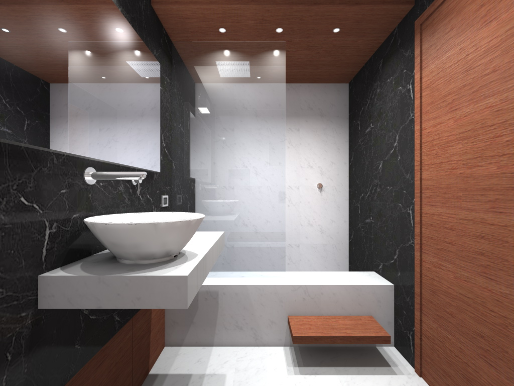 3d visualizations by evita gavrilova at Six bathroom design tips