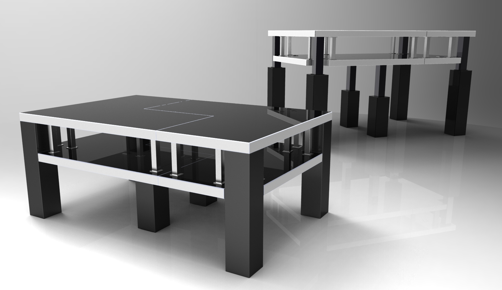 Tridesk space saving furniture by ferman vong at Space saving furniture