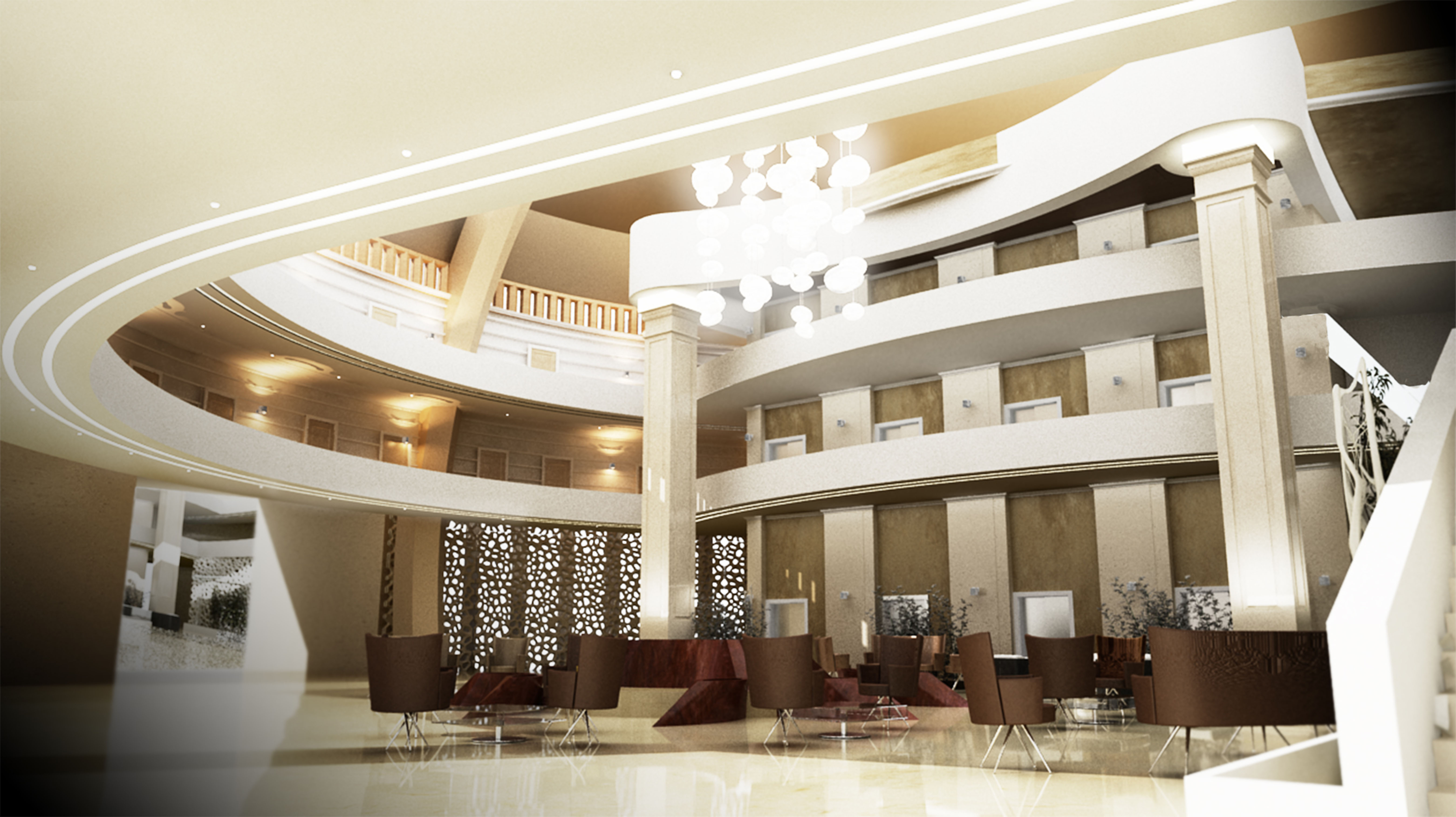 Hotel lobby interior design by mohammed siyamand at for Hotel interior design