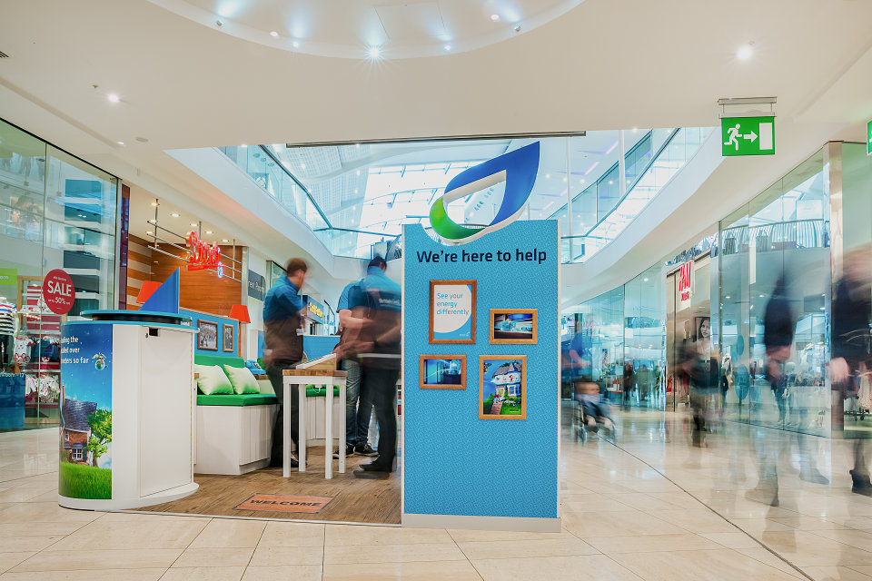 British gas kiosks for green room retail by s lee price for Green room retail