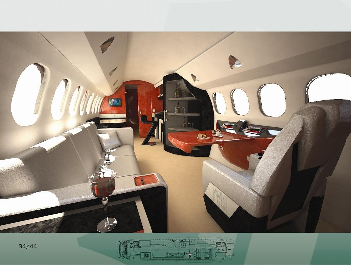 Private Jet  Interior Design By Louis Saout At Coroflot
