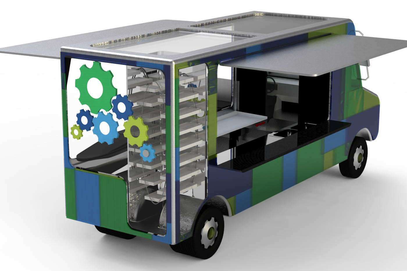 Food truck by kayte compton at for Best food truck designs