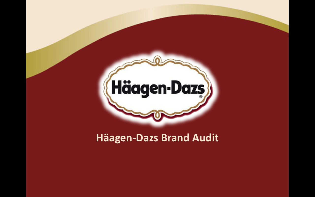 brand management project haagendazs brand audit by