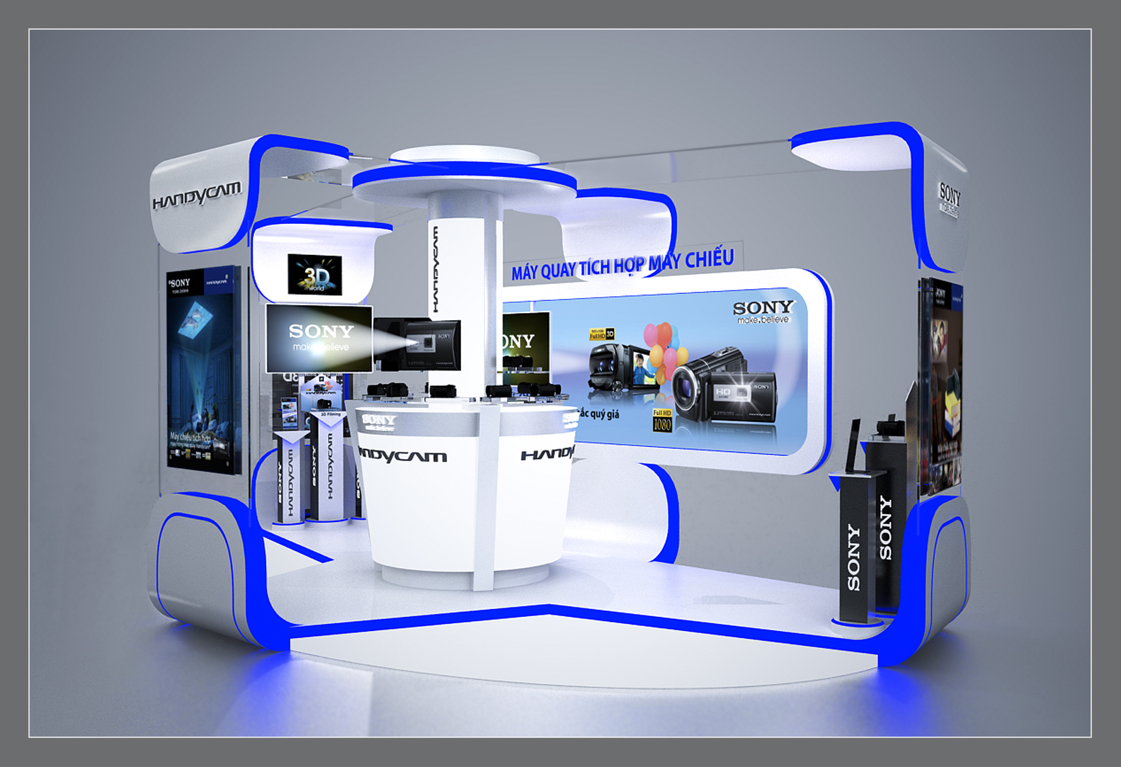 sony handycam roadshow booth by kevin pham at coroflot com