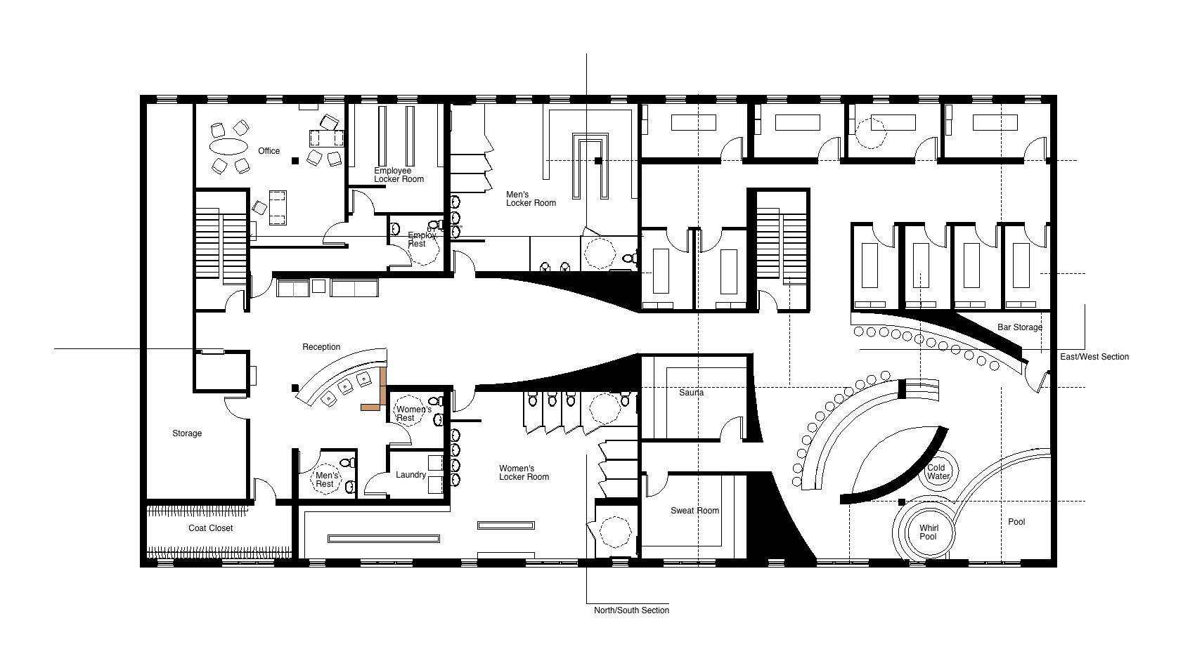 Spa studio project by allyson wyand at for Salon floor plans