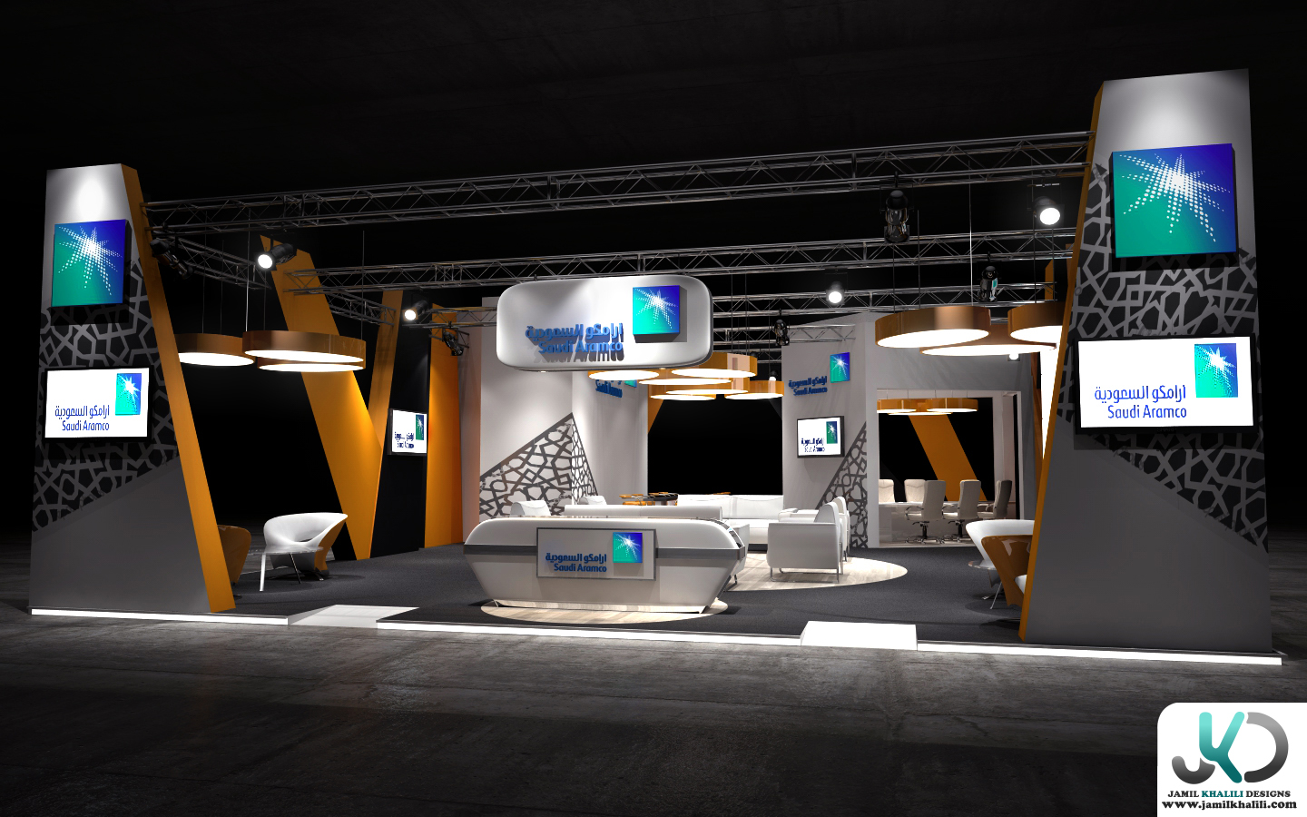 3d Exhibition Design : Aramco d exhibition design concept a by jamil