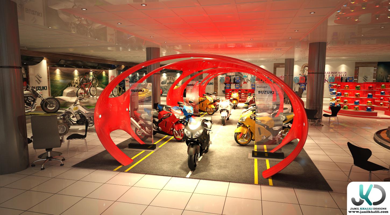 Exhibition Stand Jobs Dubai : Yamaha suzuki showroom uae dubai by jamil khalili