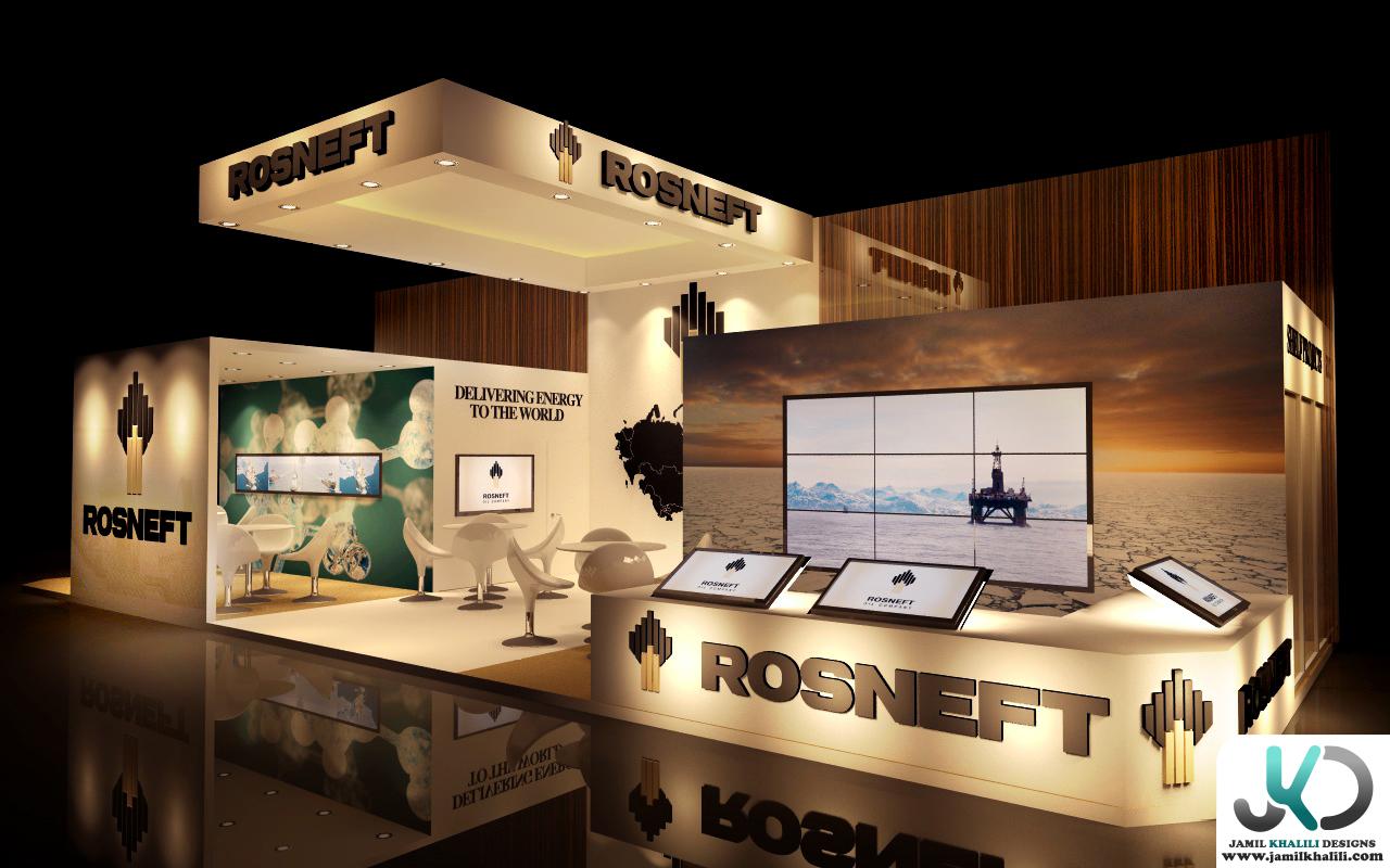 D Exhibition Designer Jobs In Dubai : Rosneft d exhibition design uae dubai by jamil