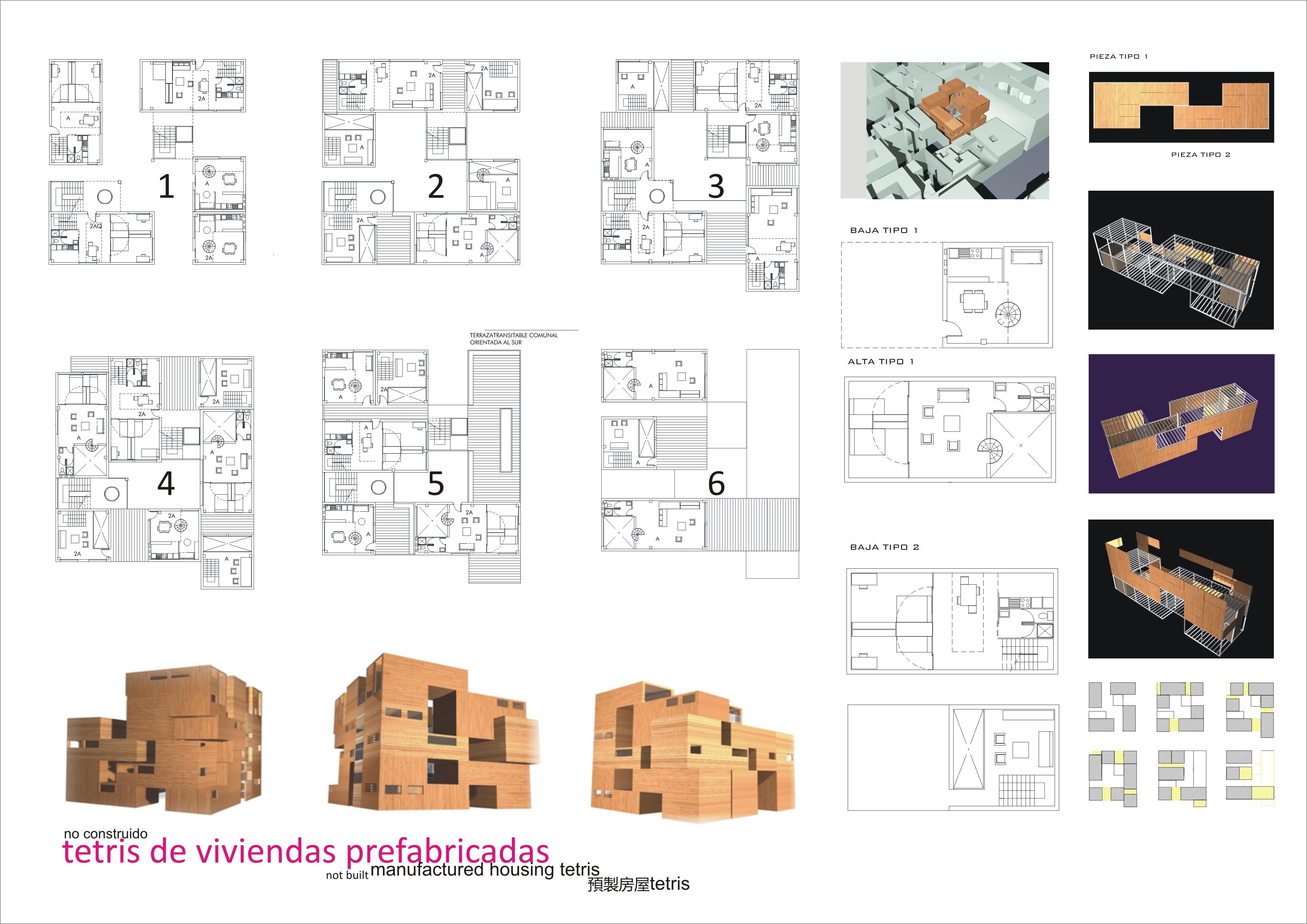 Laberinto de viviendas prefabricadas en centro de granada - Casas prefabricadas en granada ...