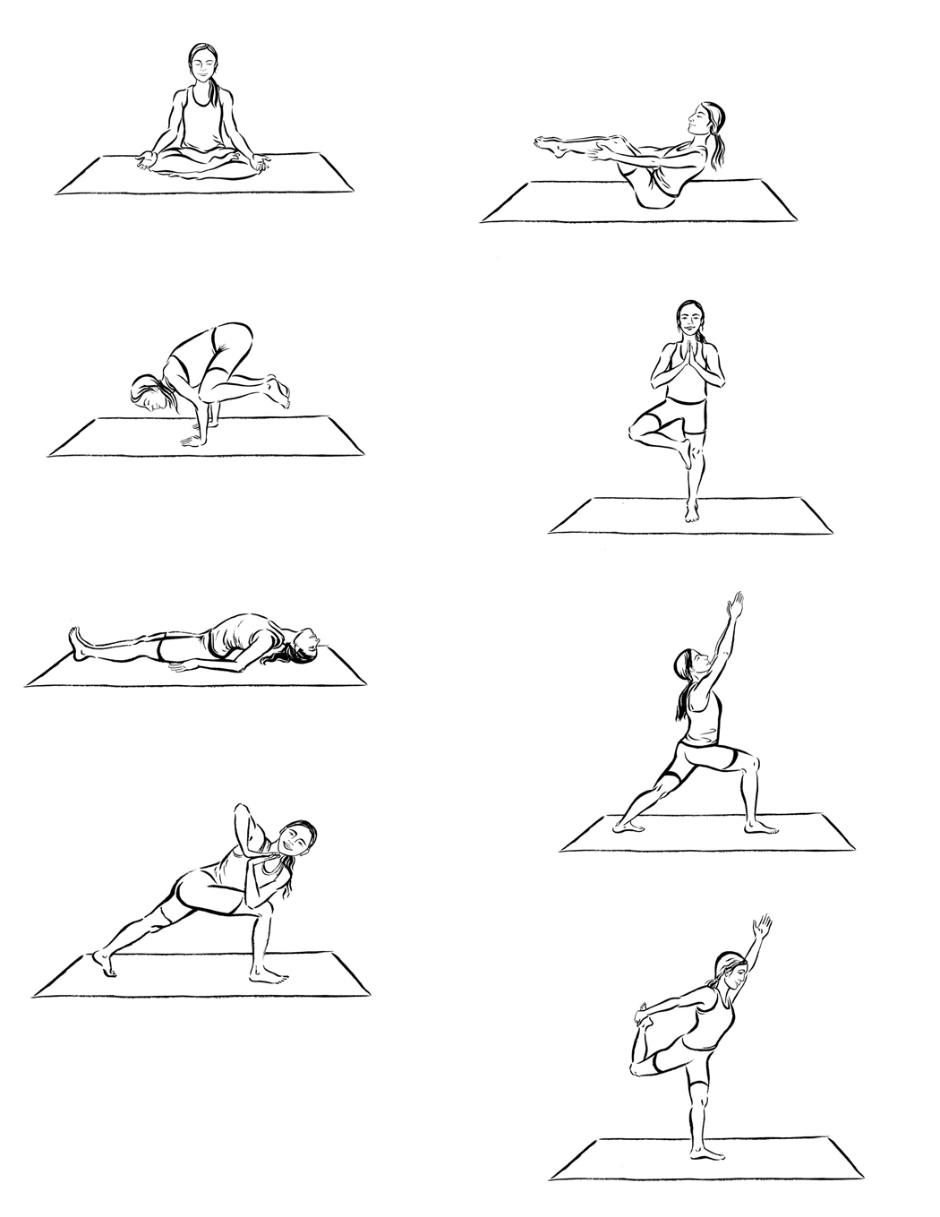 Line Drawing Yoga Pose : Yoga poses drawings