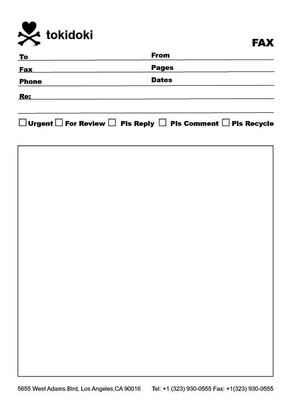 how to write a fax letterhead