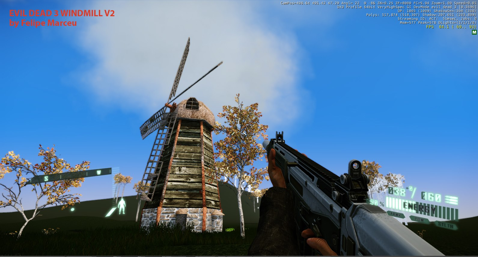 Cryengine 3 windmill model by felipe marceu at for Cryengine 3 architecture