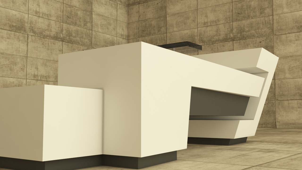 Minimal office furniture design by m rk csik s at for Minimal furniture