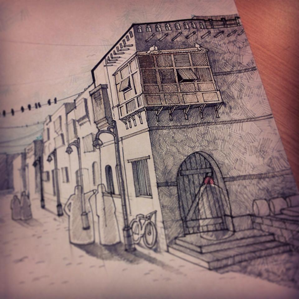 Art architecture by mohammed hussein at for Full size architectural drawings