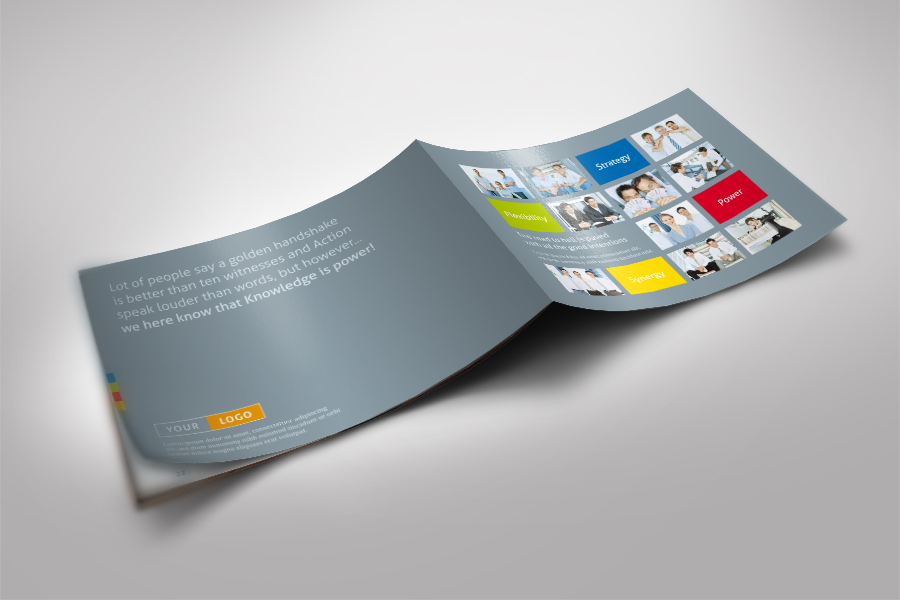 Strategic Horizontal Brochure by Mik Mikinger at Coroflot.com