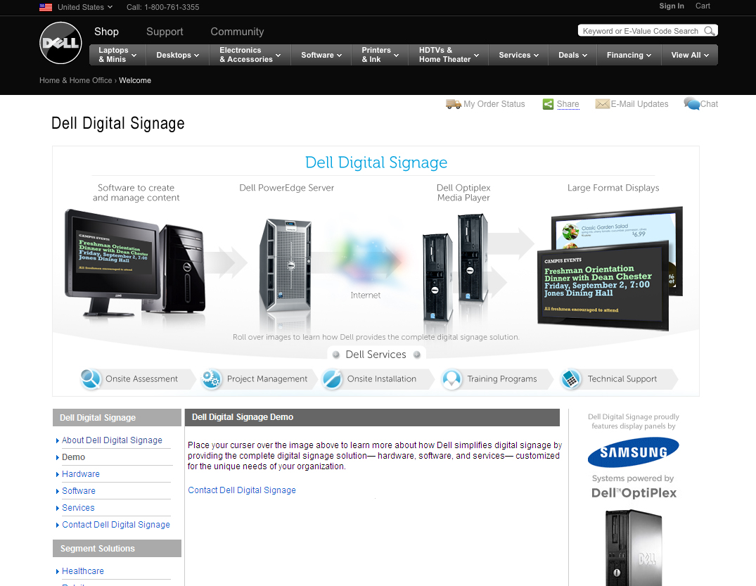 Dell digital signage website by wendy whatley at for Del website