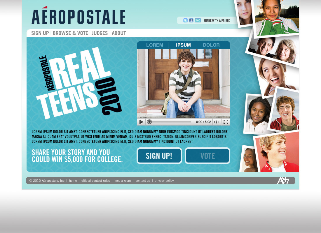 Aeropostale real adolescents 2010