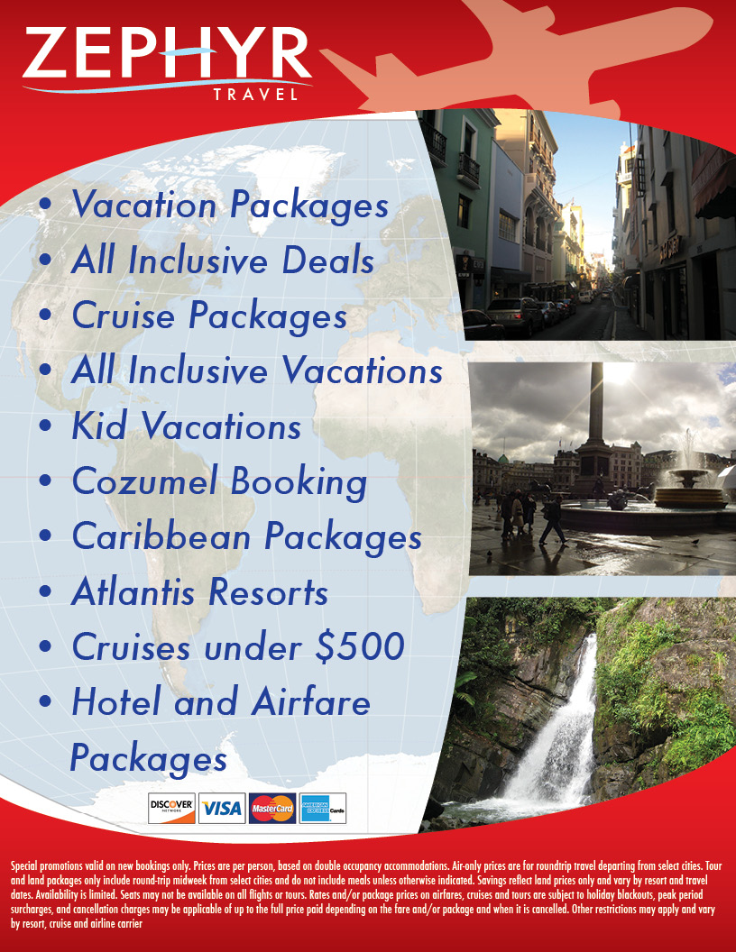 Travel agency flyer college project travel agency