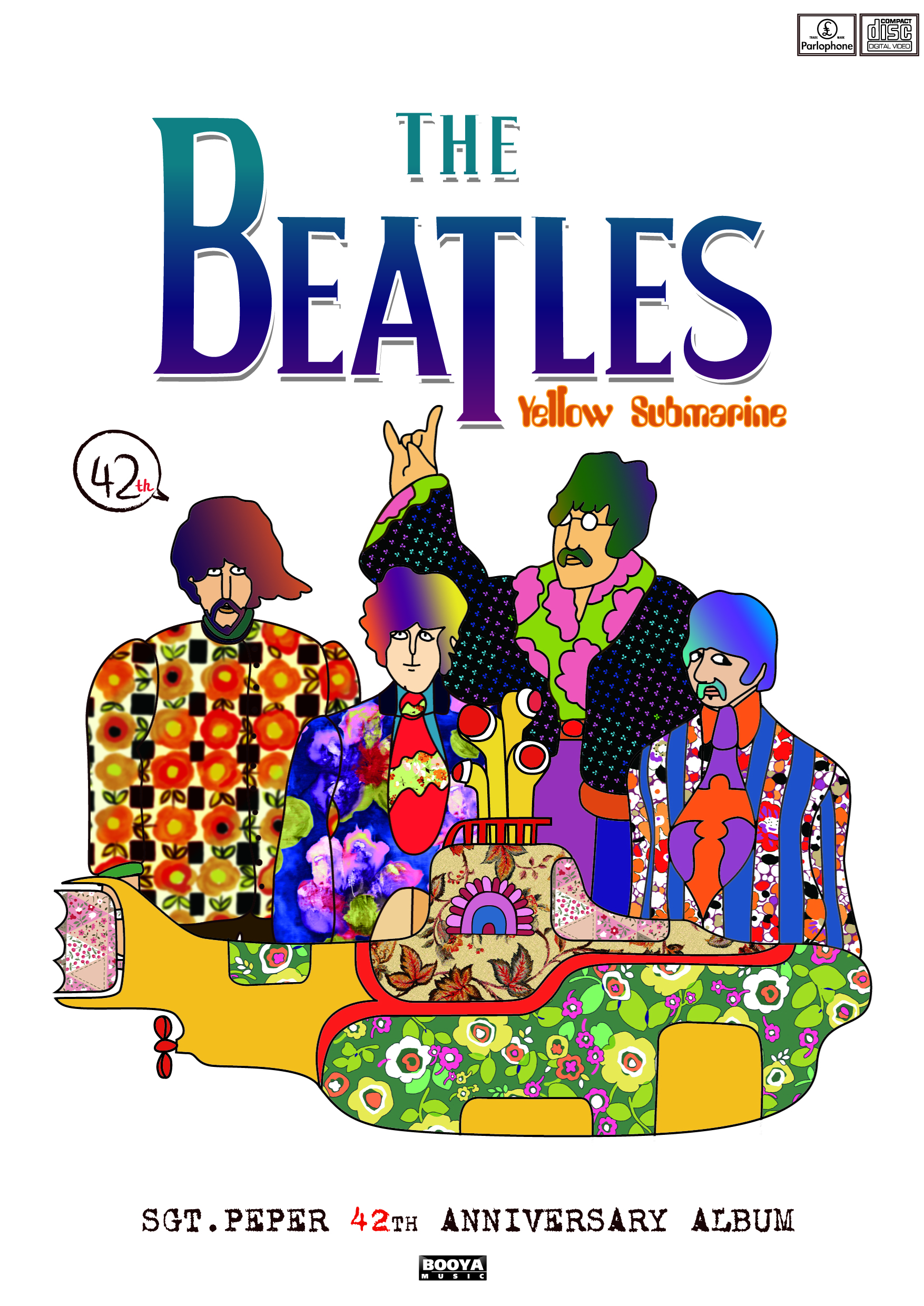 Poster for Beatles - yellow submarine by Yu Hsia at ...