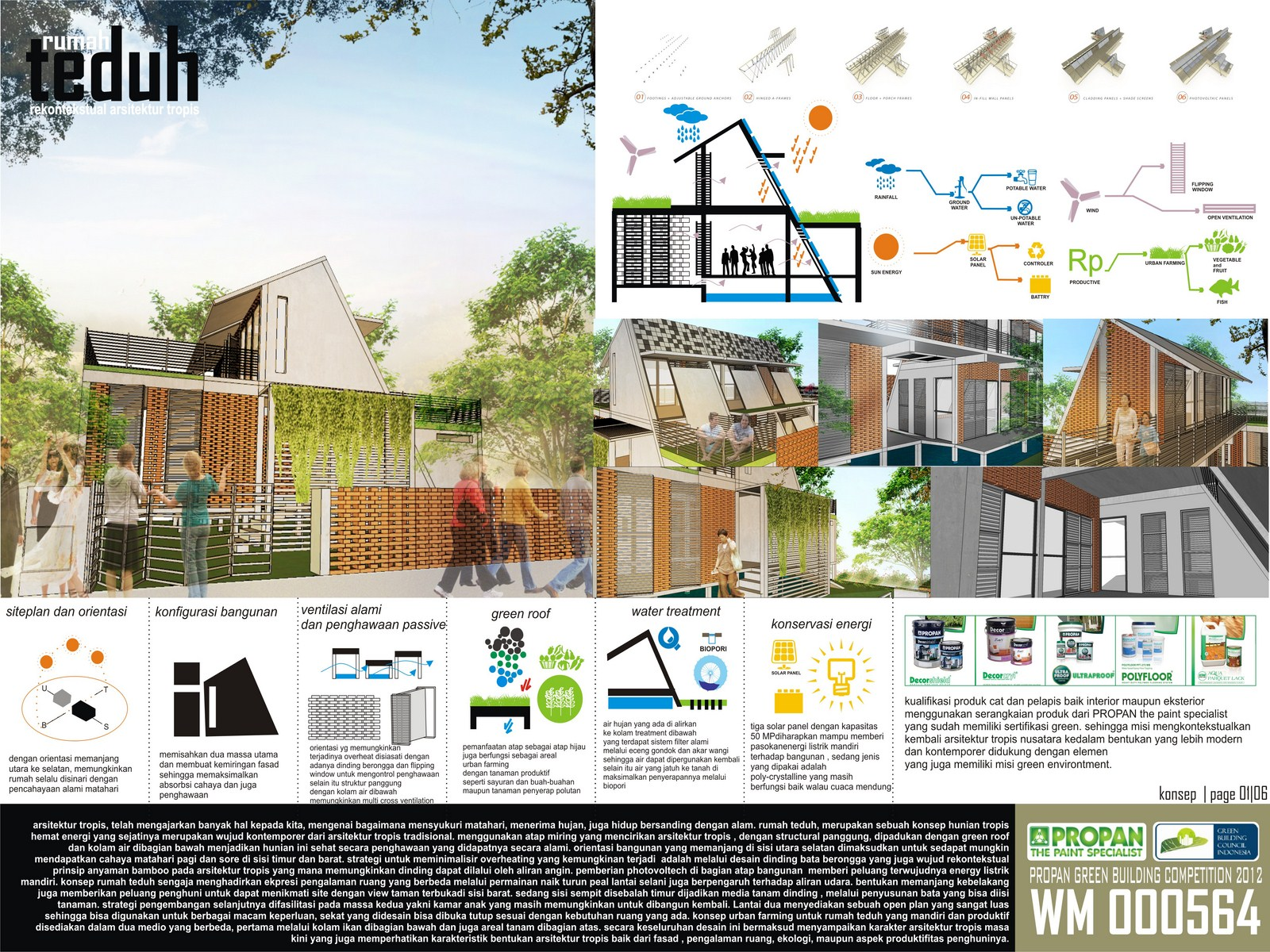 PROPAN Green Building Competition 2012 by Muhammad Nelza Iqbal at