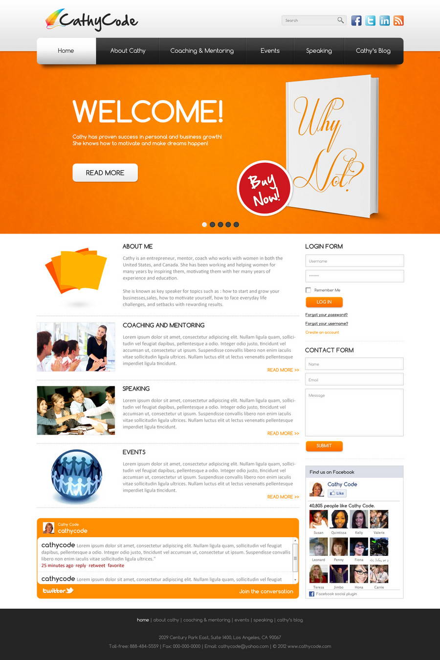 Web Template Design by Hasan Ahmed at Coroflot.com