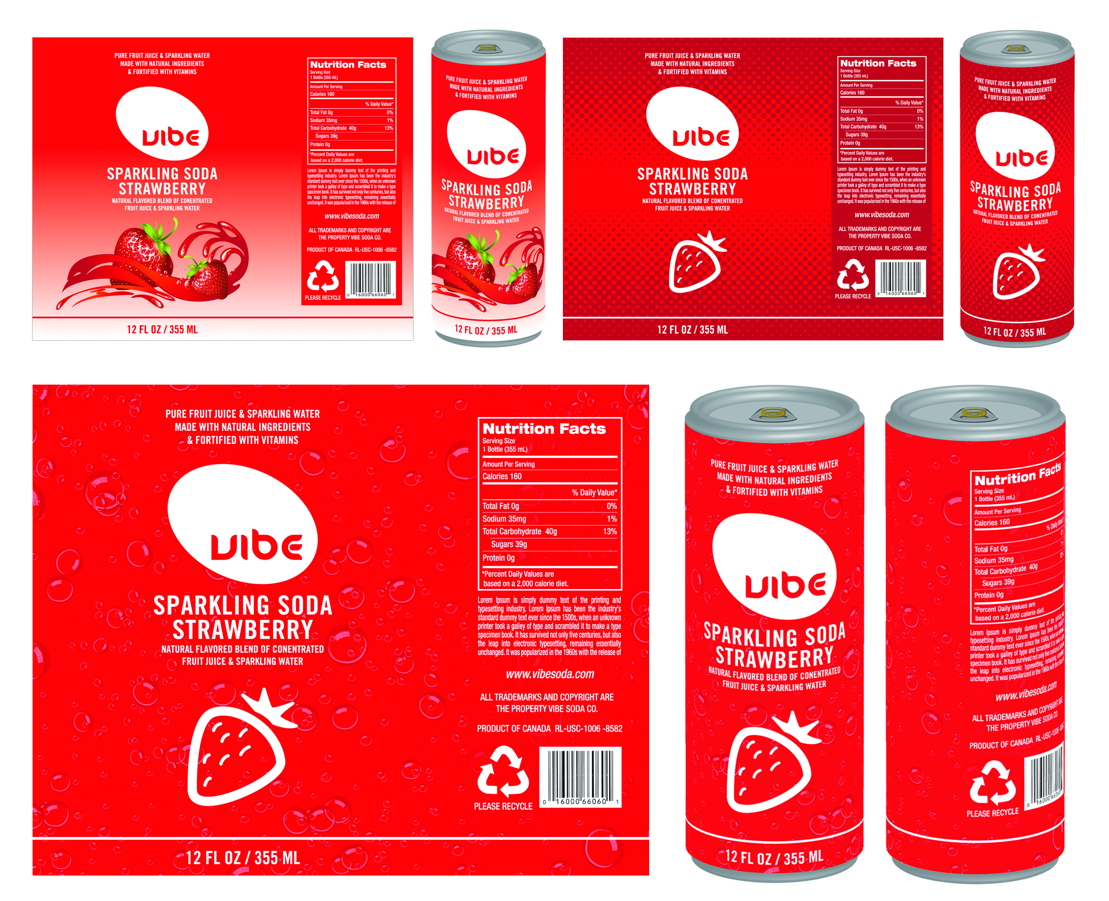 Vibe Sparkling Soda Can Design By Robert Free At Coroflot Com