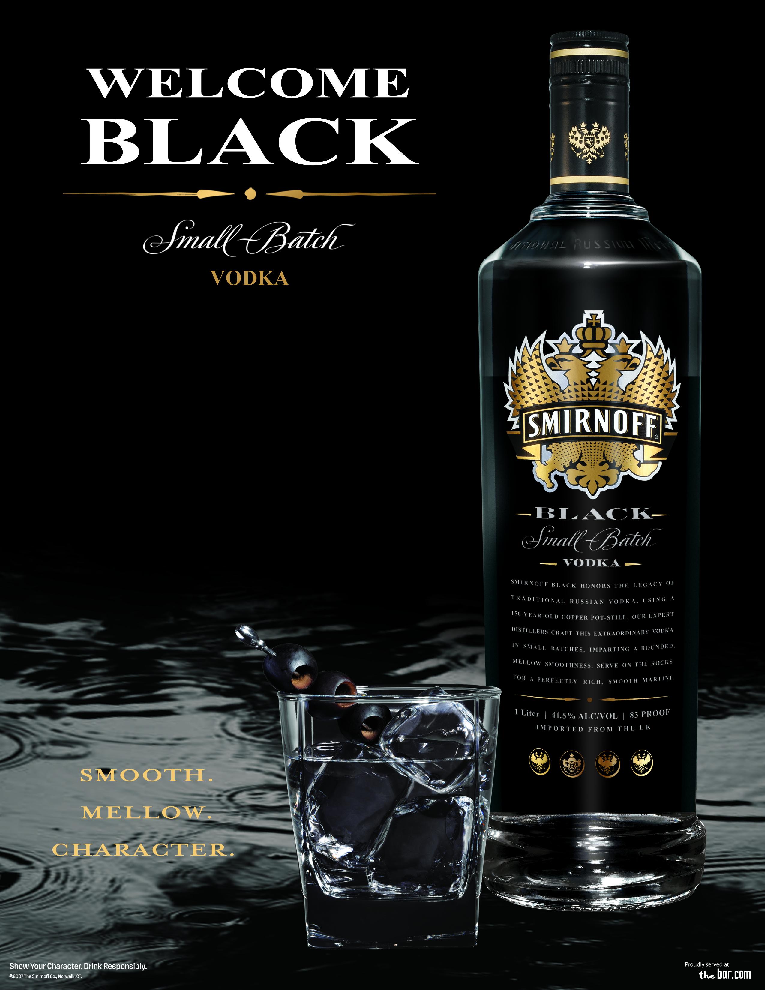 smirnoff black vodka by chris wahl at coroflotcom