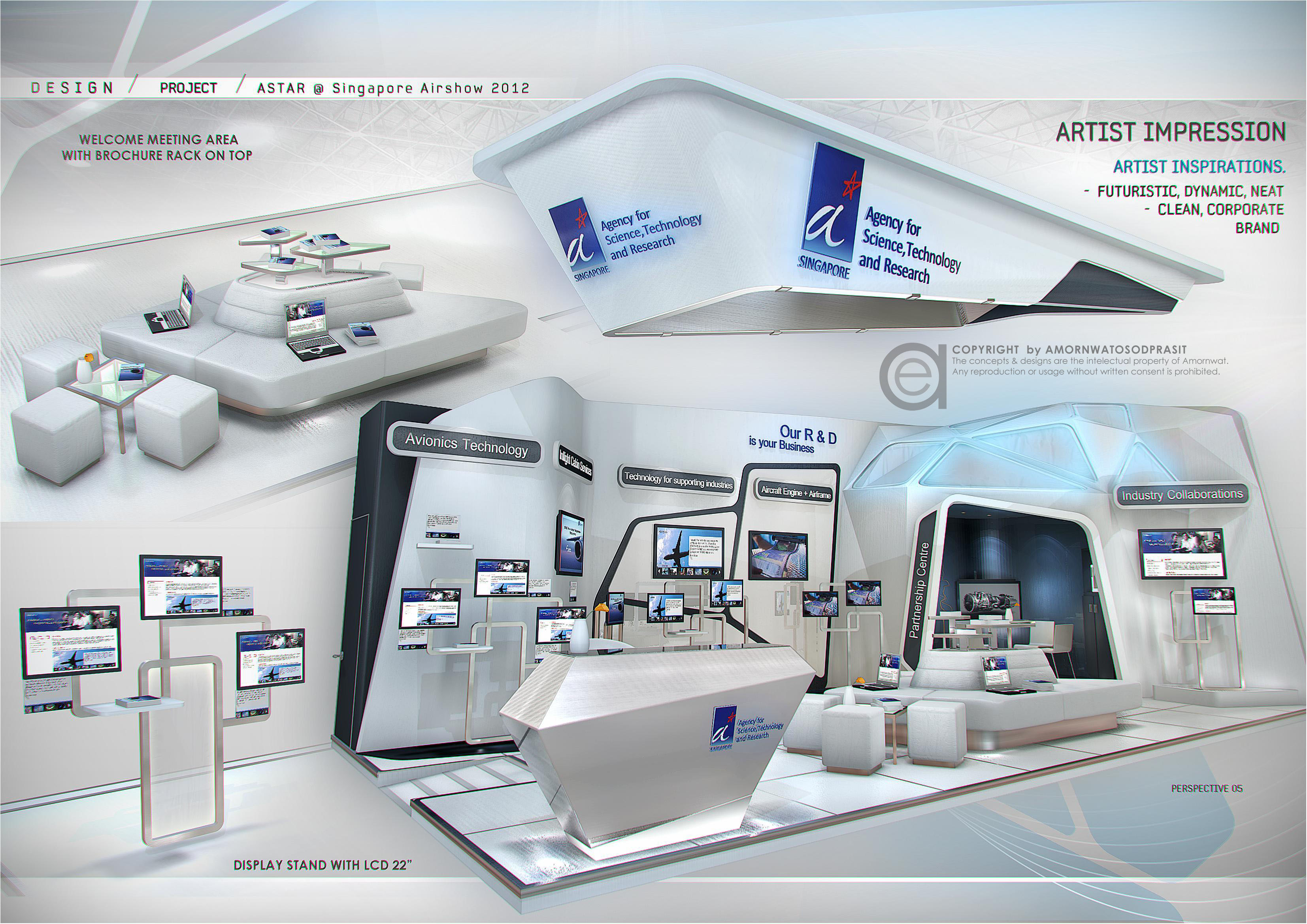 Exhibition Booth Design Singapore : Exhibition design special booth by amornwat