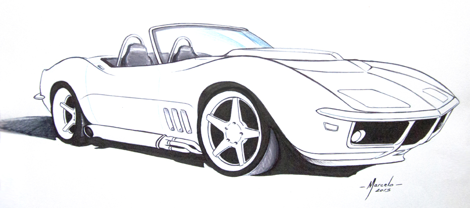 Corvette Drawings Sketches Www Imgkid Com The Image