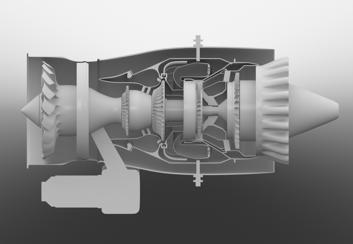 Pw615 Vlj Jet Engine    3d Diagram By Charles Floyd At